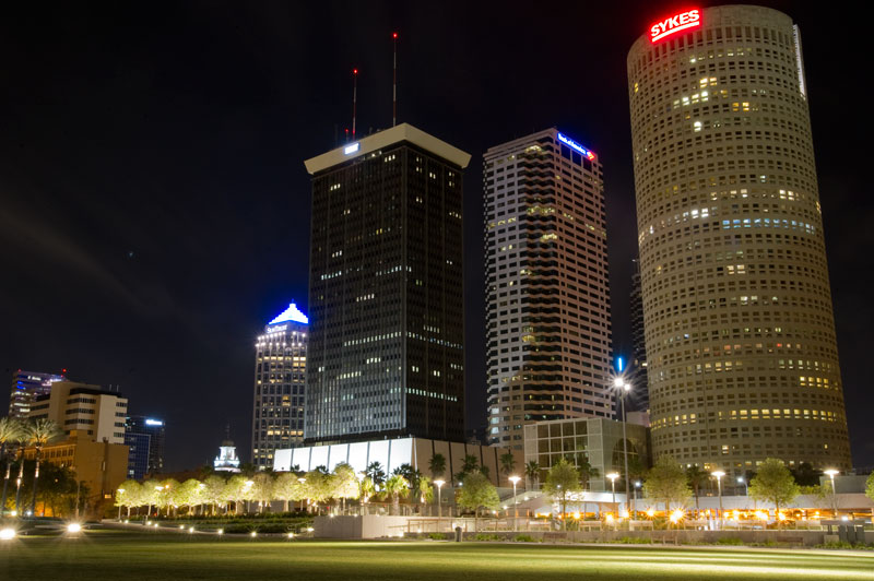 Curtis Hixon Park and Downtown Tampa