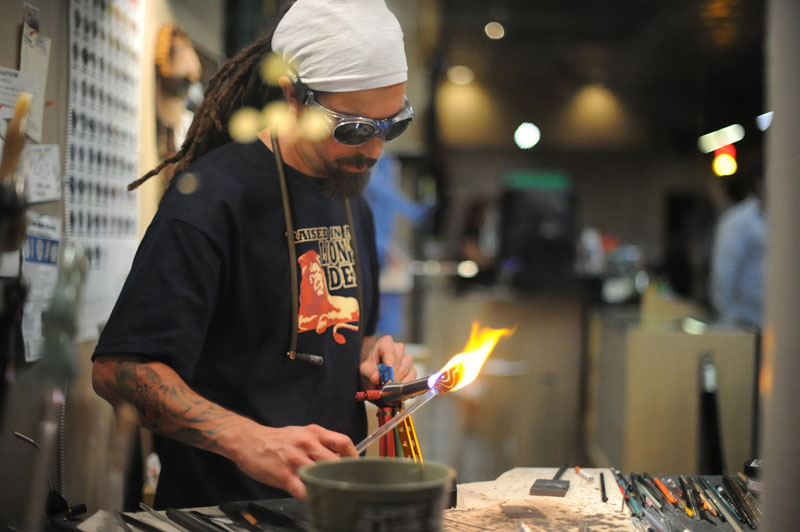 Glass Blower in Ybor
