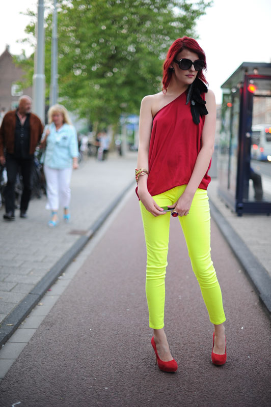 A Model in the Amsterdam Bike Lane