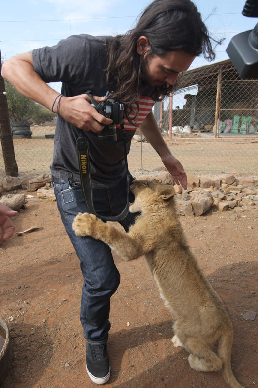 Holding Baby Lions in South Africa